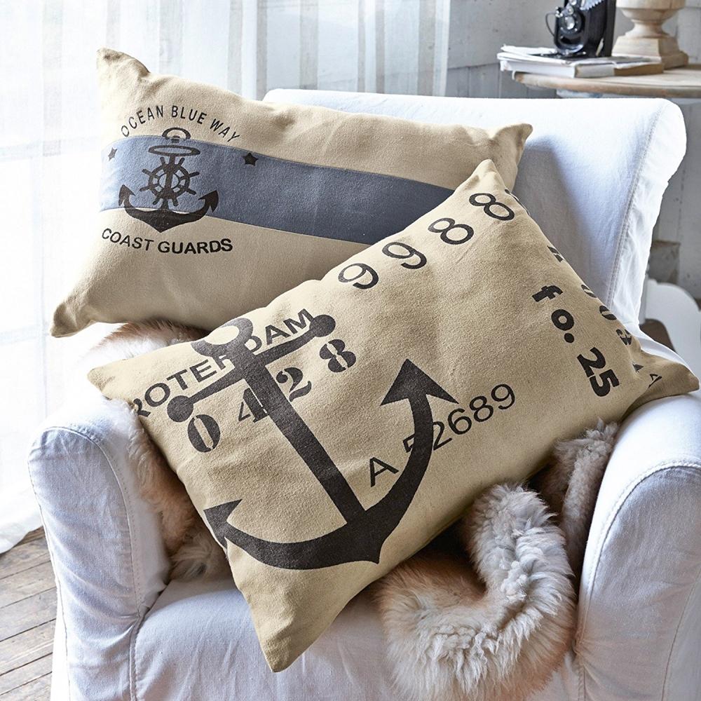 wohnzimmer maritim einrichten maritime kissen