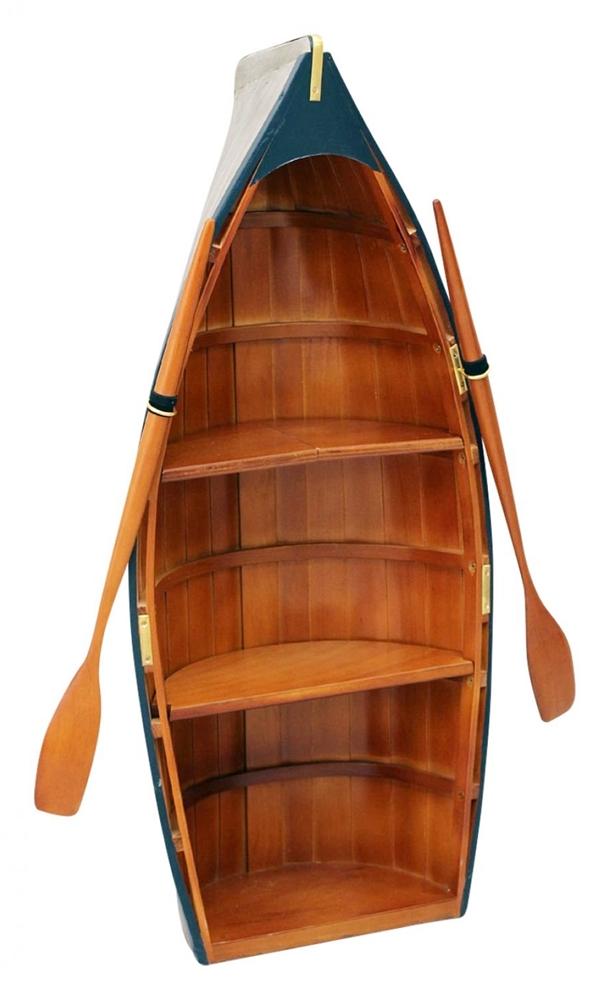 maritim einrichten bücherregal boot