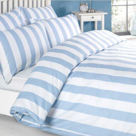 maritime bettwäsche blau weiß maritim einrichten schlafzimmer